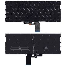 Клавиатура для ноутбука Xiaomi Mi Air (13.3) Black с подсветкой (Light), (No Frame) RU