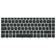 Клавиатура для ноутбука для ноутбука HP ProBook (5330M) с подсветкой (Light), Black, (Silver Frame) RU