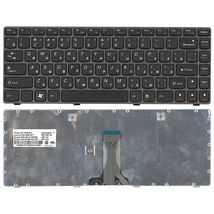 Клавиатура Lenovo IdeaPad (G480), Black, (Black Frame), RU
