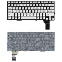 Клавиатура Sony (SVS13) с подсветкой (Light), Silver, (No Frame) RU