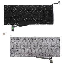 Клавиатура Apple MacBook Pro (A1286) с подсветкой (Light), Black, (No Frame), без (SD), RU (вертикальный энтер)