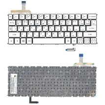Клавиатура Acer Aspire (S7-191) с подсветкой (Light), Silver, (No Frame) RU