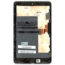 Матрица с тачскрином (модуль) Asus ME370 (Google Nexus 7 1gen) черный с рамкой
