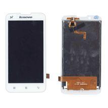 Матрица с тачскрином (модуль) для Lenovo IdeaPhone A328 белый