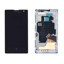 Матрица с тачскрином (модуль) для Nokia Lumia 1020 с рамкой черный