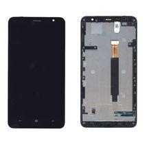 Матрица с тачскрином (модуль) для Nokia Lumia 1320 (с рамкой) черный