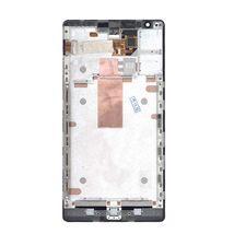 Матрица с тачскрином (модуль) для Nokia Lumia 1520 с рамкой черный