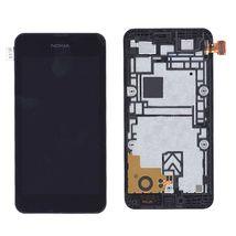 Матрица с тачскрином (модуль) для Nokia Lumia 530 черный с рамкой