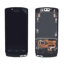 Матрица с тачскрином (модуль) для Nokia Lumia 700 черный с рамкой
