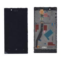 Матрица с тачскрином (модуль) для Nokia Lumia 720 черный с рамкой