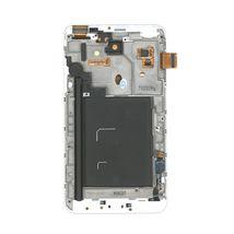 Матрица с тачскрином (модуль) для Samsung Galaxy Note 1 GT-N7000 белый с рамкой