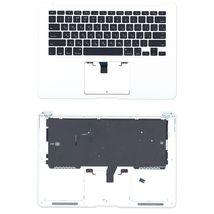 Клавиатура для ноутбука Apple MacBook Air 2013+ (A1466) Black с топ панелью, RU (горизонтальный энтер)