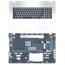 Клавиатура Asus (N76V) с топ панелью, с подсветкой (Light), Silver, RU