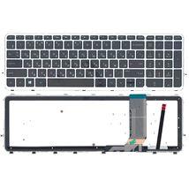 Клавиатура HP Envy (15-j000) с подсветкой (Light) Black, (Silver Frame) RU