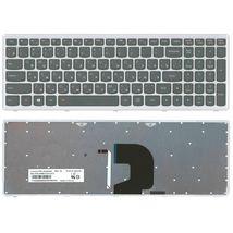 Клавиатура Lenovo Ideapad (Z500) с подсветкой (Light) Black, (Gray Frame) RU
